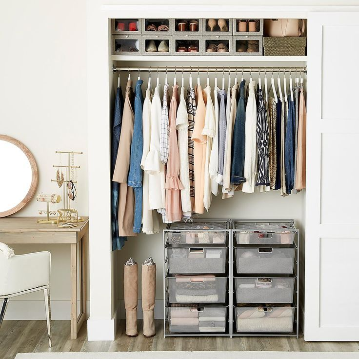 Clothes Closet White Elfa Reach In Clothes Closet The