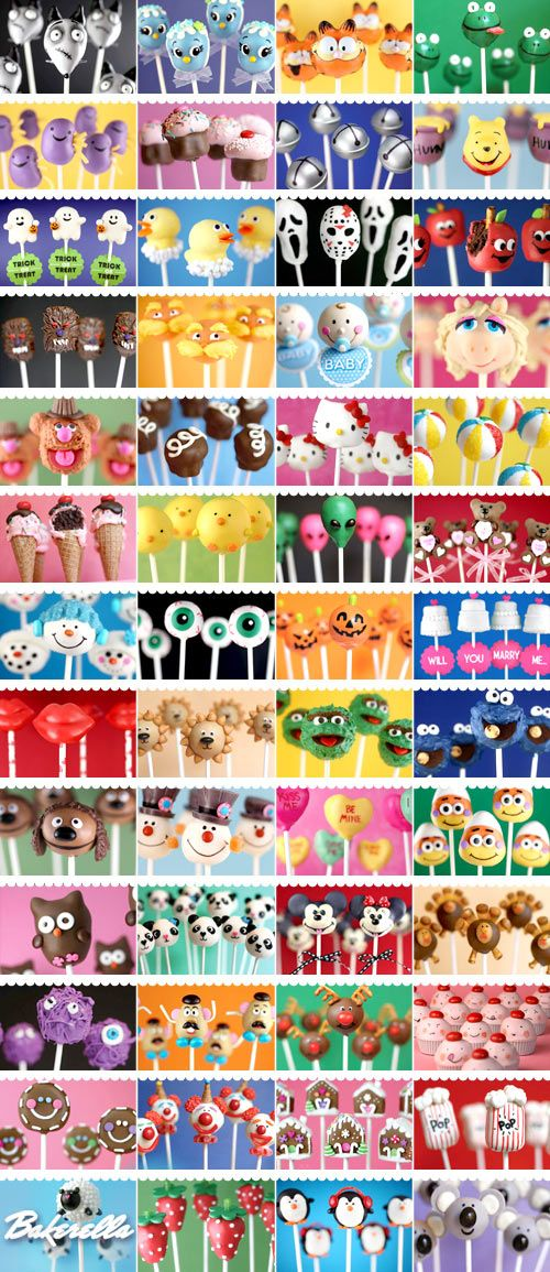 A Million Cake Pop ideas- celebrating 5 years of cake pops with Bakerella!  The original cake pop!  <3