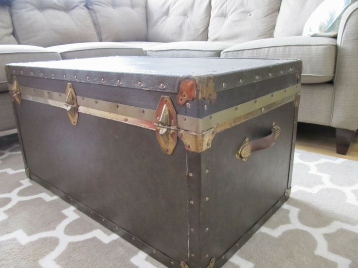 How to Add Vintage Elements to Your Home - vintage trunk coffee table