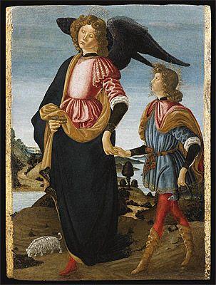 Francesco BOTTICINI | Tobias and the Archangel Raphael [Tobiolo e san Raffaele Arcangelo]