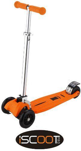 iScoot© Pro v2 Tilt Kickboard Mini T-Bar 3 Wheel Kick Scooter Bobbi Board for Boys / Girls / Children - Orange iScoot http://www.amazon.co.uk/dp/B00GHV0D0I/ref=cm_sw_r_pi_dp_Kq6Awb1MXWRRP