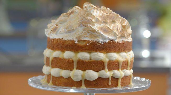 Van deze Naked cake bleven Janny en Robèrt dooreten. Het recept is geïnspireerd op de Tarte au Citron Meringuée.