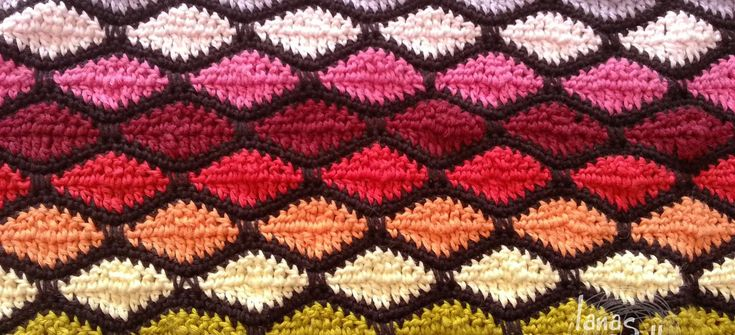 wave stitch crochet ganchillo ondas