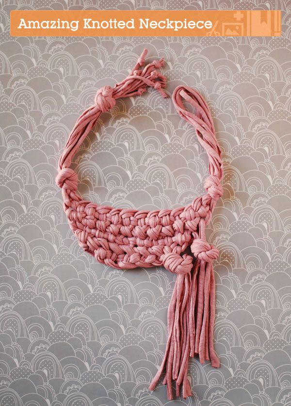 diy knotted neckpiece