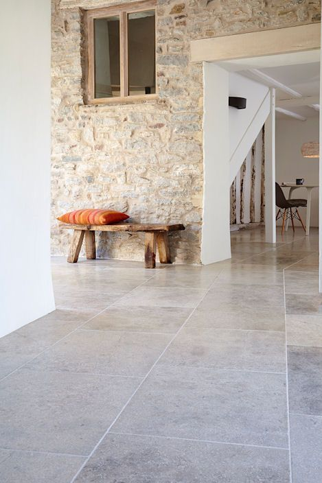 Blenheim Grey Brushed Limestone Tiles & Stone || Mandarin Stone Tiles & Flooring