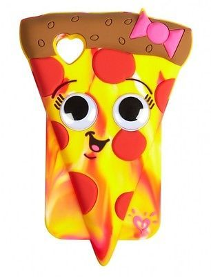 NEW! Justice 3D Pizza w/ Funny Eyes Case Skin for iPod Touch 4 4G 4th Generation