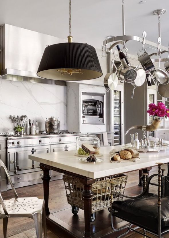 Trove Interiors: Kitchens Interiors, Pots Racks, Windsor Smith, Gwyneth Paltrow, Interiors Design, Chic Dress, Modern Kitchens Design, Stainless Steel, Gwynethpaltrow