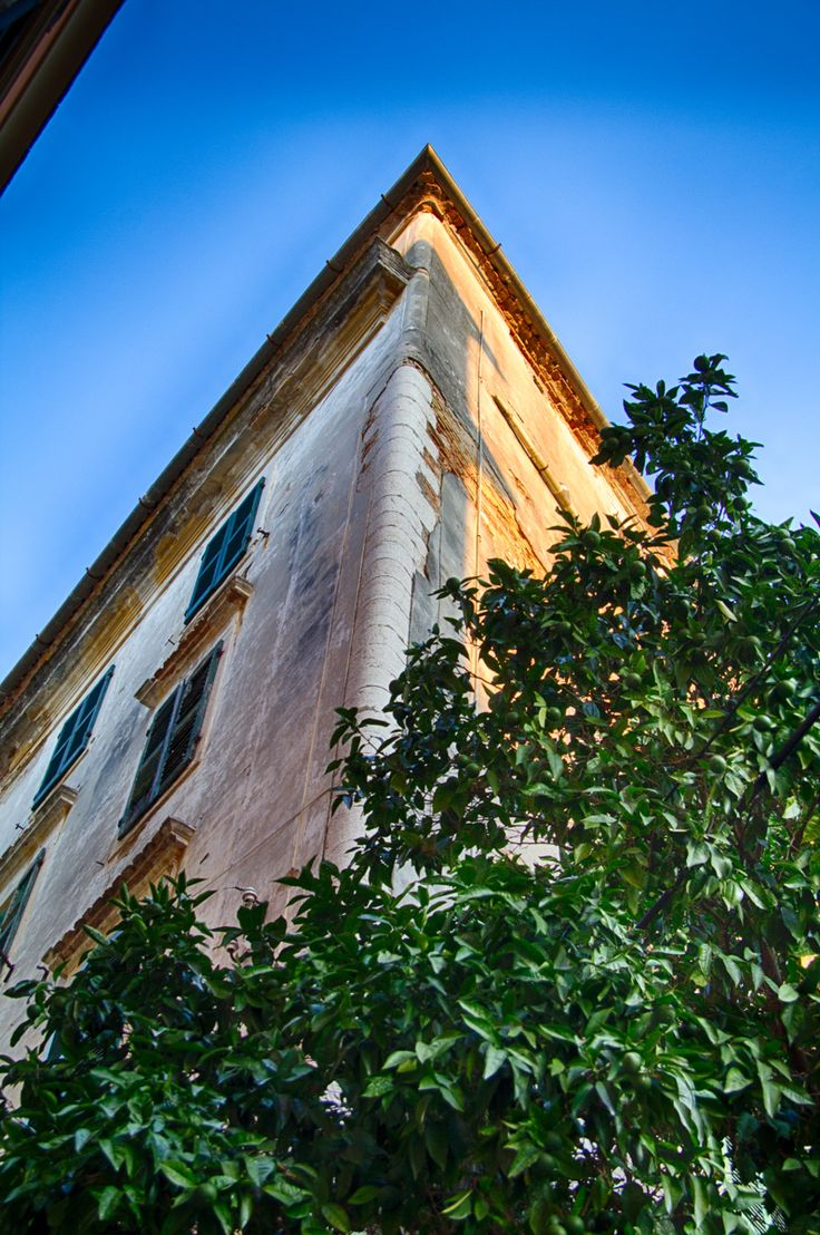 Architecture in Corfu town HDR photo.