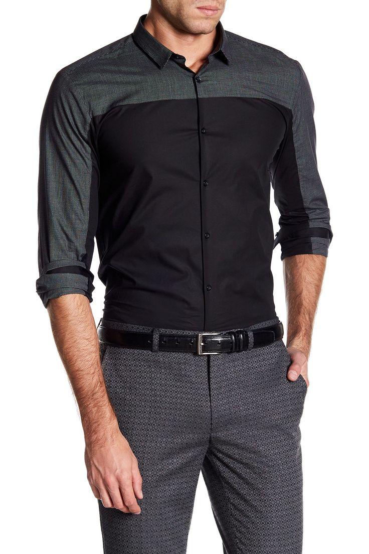 Erhart Contrast Checkered Slim Fit Shirt