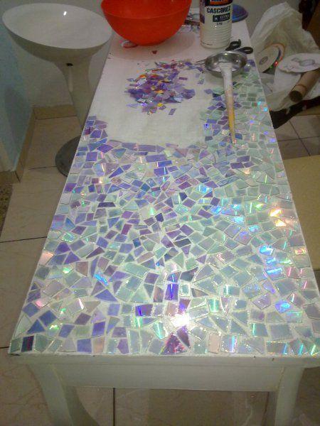 Mosaik mit CDs! #Mosaik