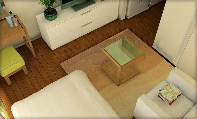 一人暮らしのワンルーム(1R)風水 レイアウト&模様替え実例5