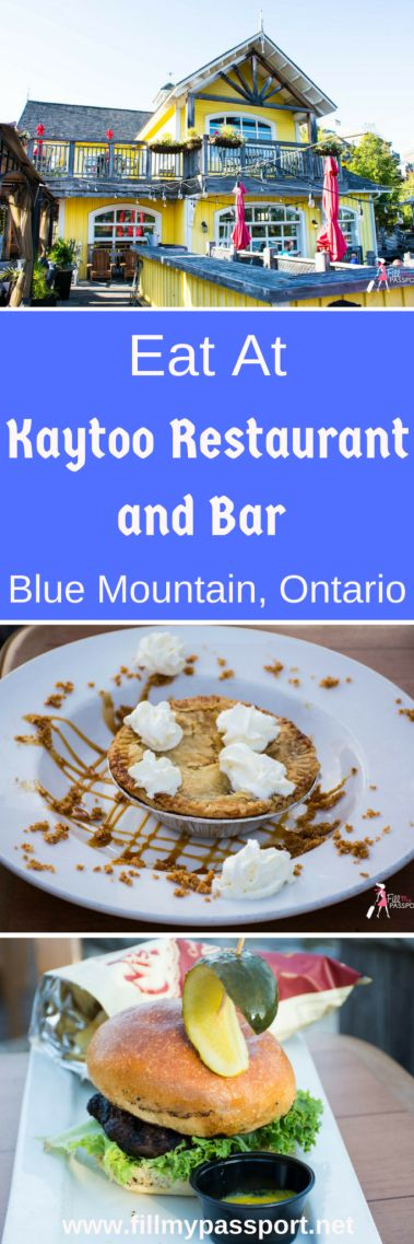 If you enjoy some quintessential Canadian cuisine and dishes, you must try this awesome restaurant in Blue Mountain Village Collingwood Ontario. Enjoy Caesars made with maple vodka, Bison burgers, poutine, and my favourite, S'mores in a jar! They are open year round and have great live music.