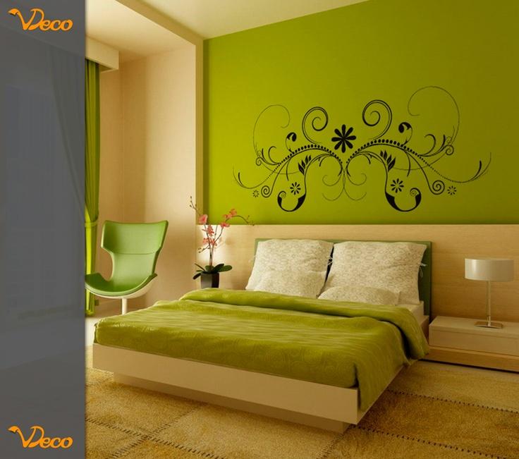 Floral sim trico para pared puede utilizarse como for Vinilo para dormitorio adultos