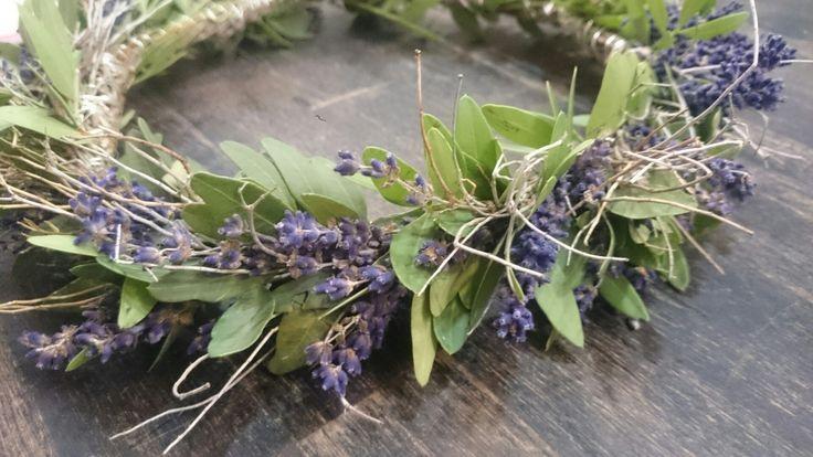 Wreath lavender flowers crown