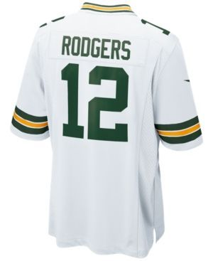 Nike Men's Aaron Rodgers Green Bay Packers Game Jersey - White M