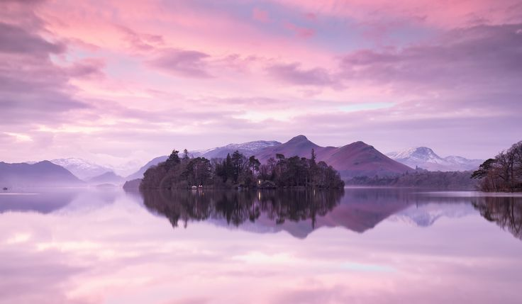 Derwent Isle Reflections ... Sunrise at Derwent Water, Lake District, Cumbria, England | by buckles on 500px