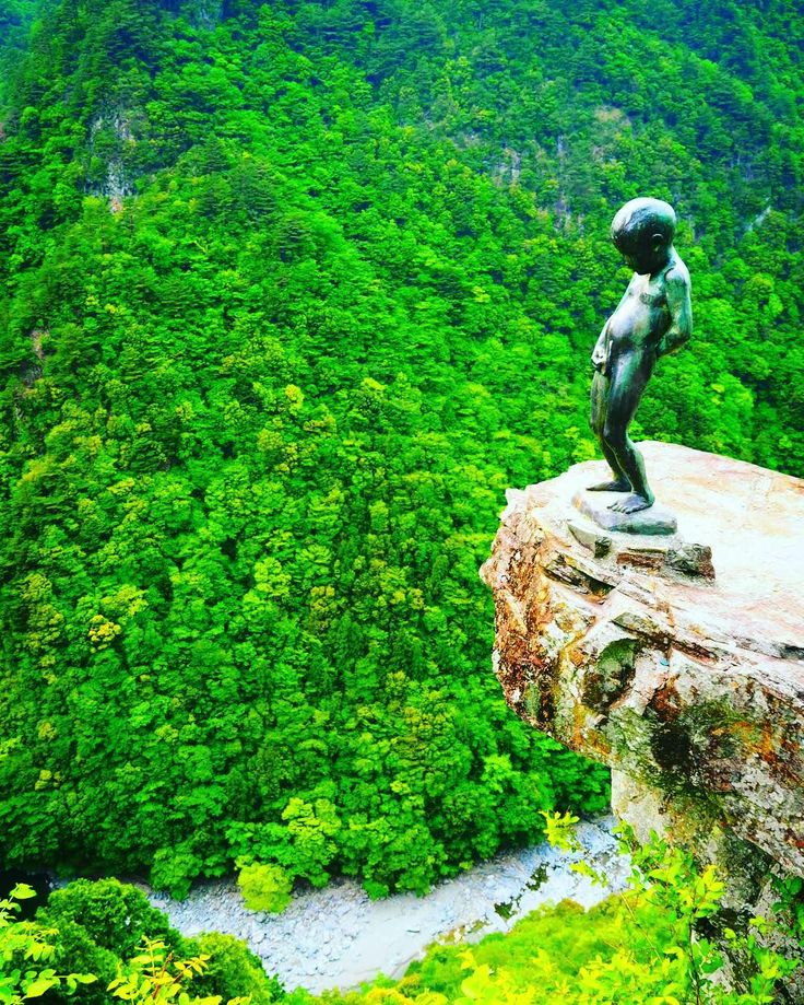 The Peeing Boy of Iya Gorge, Miyoshi, Tokushima