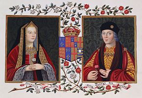 Elizabeth of York and Henry VII. Their marriage joined the houses of York and Lancaster under one house - House of Tudor. They had 7 children. Henry mourned Elizabeth deeply after her death following the birth of her last child.