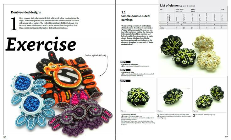 """Digital manual: """"Soutache – one step beyond"""" by Tender December, Alina Tyro-Niezgoda Two language versions: polish and english To buy / aby kupić: http://tenderdecember.eu/shop/produkt/digital-manual-soutache-one-step-beyond/"""