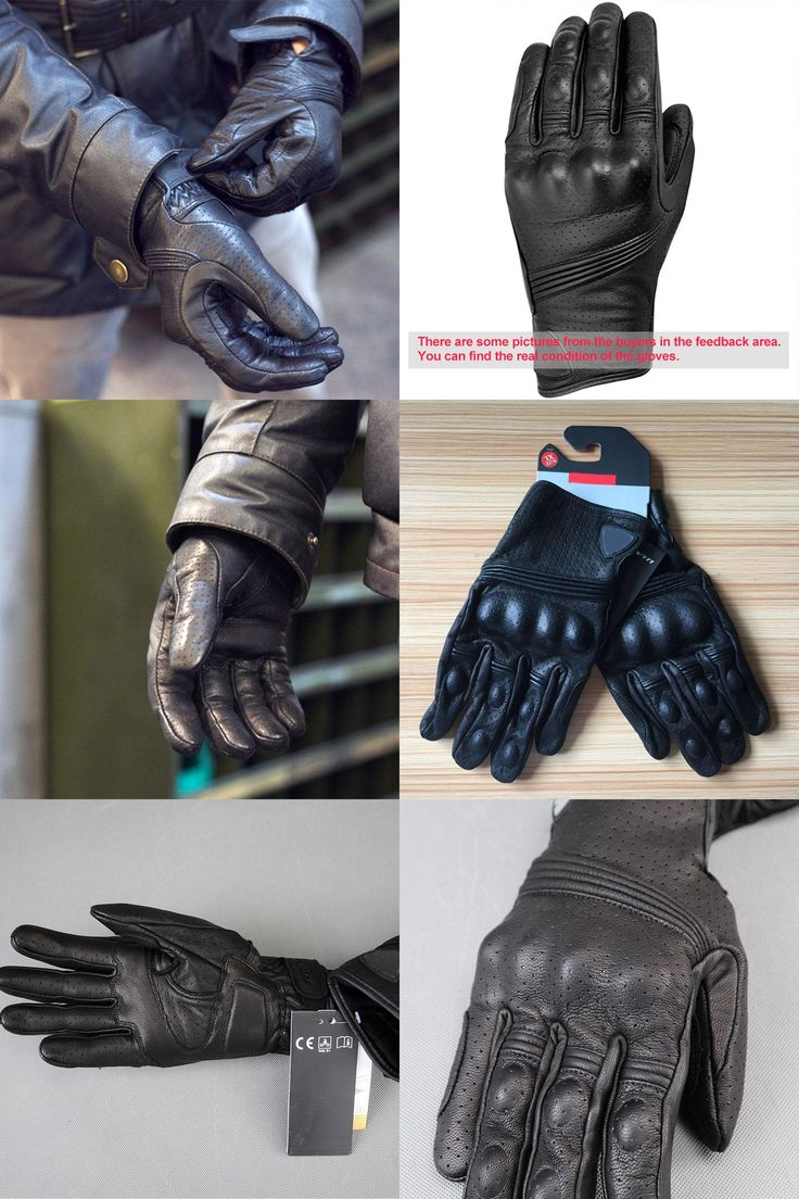 Motorcycle gloves victoria bc -  Visit To Buy 2016 New Revit Breathable Motorcycle Glove Black Genuine Leather Motocross Protection