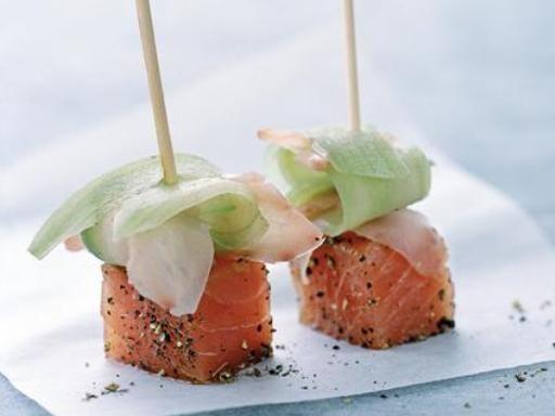 Recette Sucettes de saumon au gingembre mariné, notre recette Sucettes de saumon au gingembre mariné - aufeminin.com