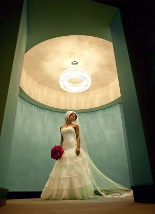Beautiful Bride in Circular Green Room by @Jo Stewart photographers - Jos Smith  | Done Brilliantly