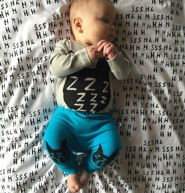 Minti Baby Zzz Cat Ls Onepiece Grey Marle