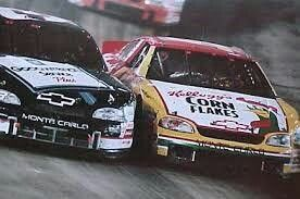 Bristol Motorspeedway 1999 Dale Earhnhart and Terry Labonte in a late race battle