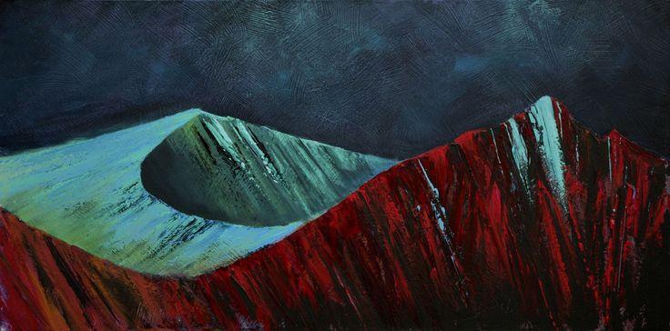 Arran mountains  by Scottish contemporary landscape painter J Mackintosh