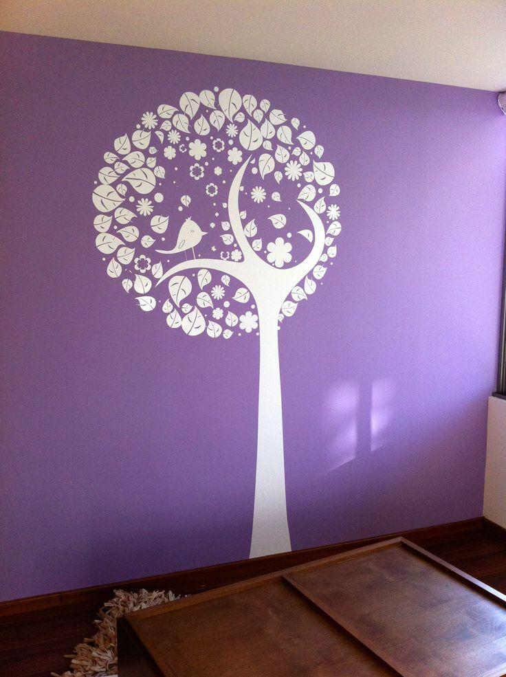 #tree #bedroom #walldecal #decals #viniles #vinil