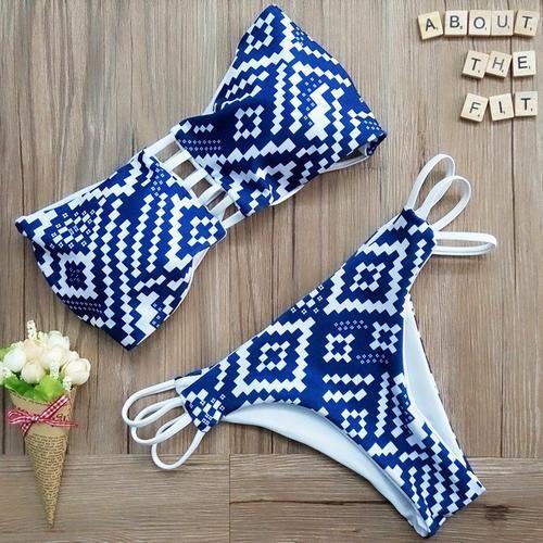 Preppyco Reversible Halter Bikini Set