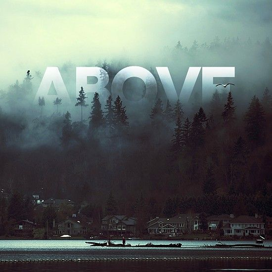 ABOVE - typography semi transparent and ghostly