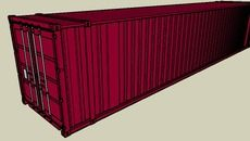 3D Model of 45ft Cargo Container - 01