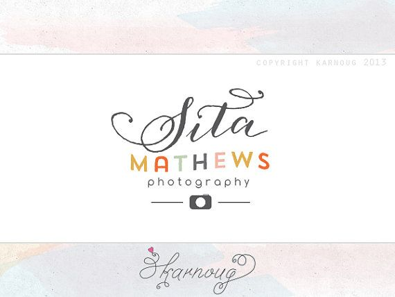 Custom Premade Photography Logo camera modern logo by karnoug, $30.00