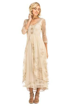 Nataya Vintage Inspired Victorian Lace Dress-40163 - Donna Starzynski
