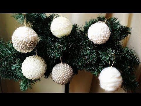 ▶ D.I.Y. hand made christmas decorations ❄ Palline di Natale decorate fai da te - YouTube
