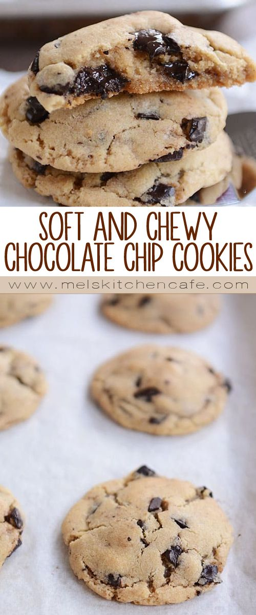 These soft and chewy chocolate chip cookies are perfect! Seriously, perfect. And thanks to a simple and unique mixing method, this recipe is easy as can be!