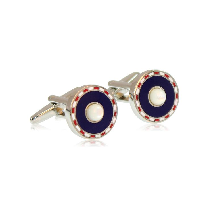 Strong and powerful and yet classic in style, these C Suite cufflinks for women with navy, red and white detail are perfect for our high flyers and those on the rise.  Our cufflinks are made from solid brass with rhodium plating. The rhodium ensures a tarnish-free appearance unlike similar cufflinks made from nickel or sterling silver.   http://www.byariane.com.au/Cufflinks-C-Suite