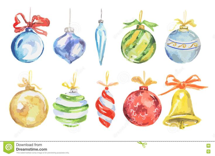 Watercolor Christmas Toys Set. - Download From Over 53 Million High Quality Stock Photos, Images, Vectors. Sign up for FREE today. Image: 77482426