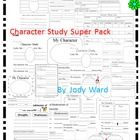 A Set of 24 Character Worksheets to be used with any book.  This is a collective group of similar worksheets as those listed singularly in my store....