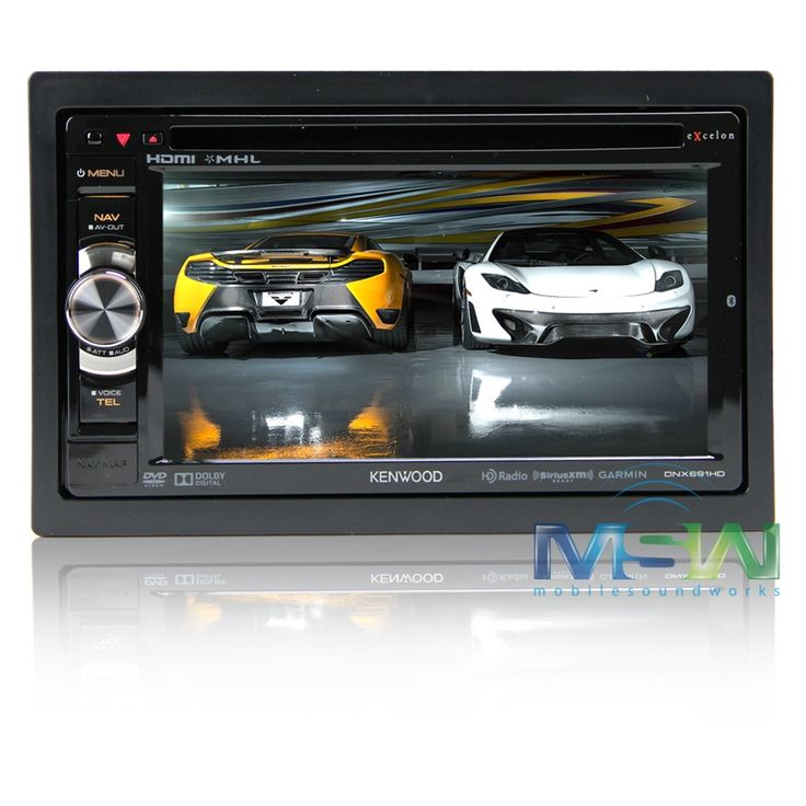 Kenwood Excelon DNX691HD In-Dash Navigation Car Stereo DVD Receiver (DNX-691HD)