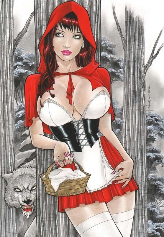 Sexy naked red riding hood, melinda sweet sex kitchen video