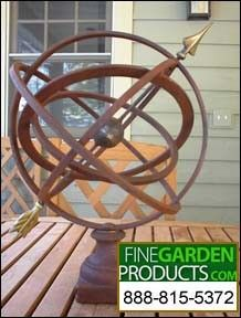 Small Table Armillary Sphere Garden Art Finegardenproducts
