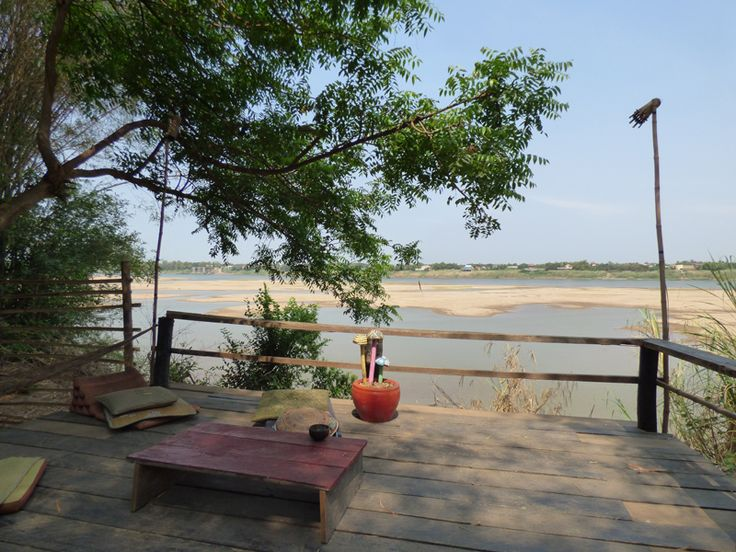 View of the Mekong in dry season from Koh Paen, Kampong Cham