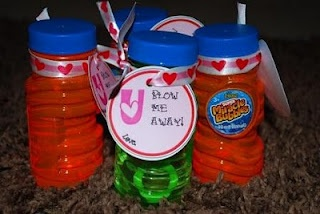 U Blow Me Away Bubbles Valentine Idea
