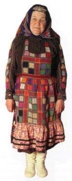 Этнический костюм женщины свердловской области