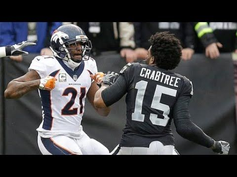 Aqib Talib and Michael Crabtree scuffle, spark Raiders-Broncos fight 2017.