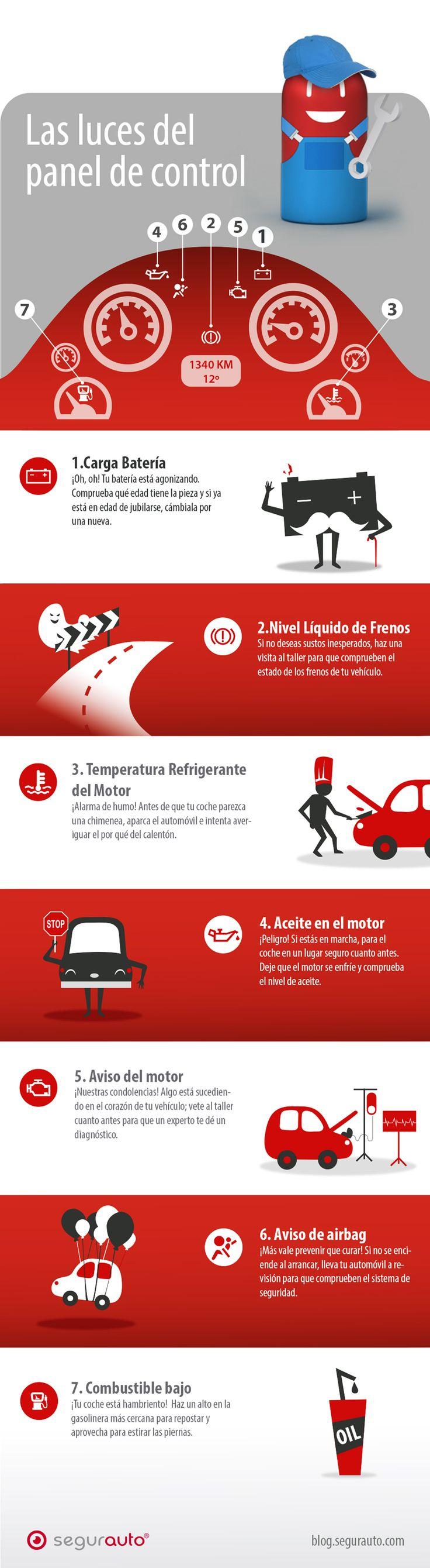 Infografía – Luces del panel de control #Infografía #SeguroDeCoche #Seguros…
