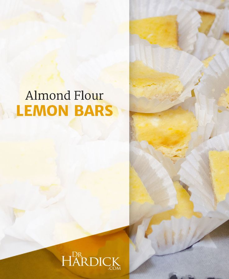 DrHardick.com | Almond Flour Lemon Bars | http://drhardick.com