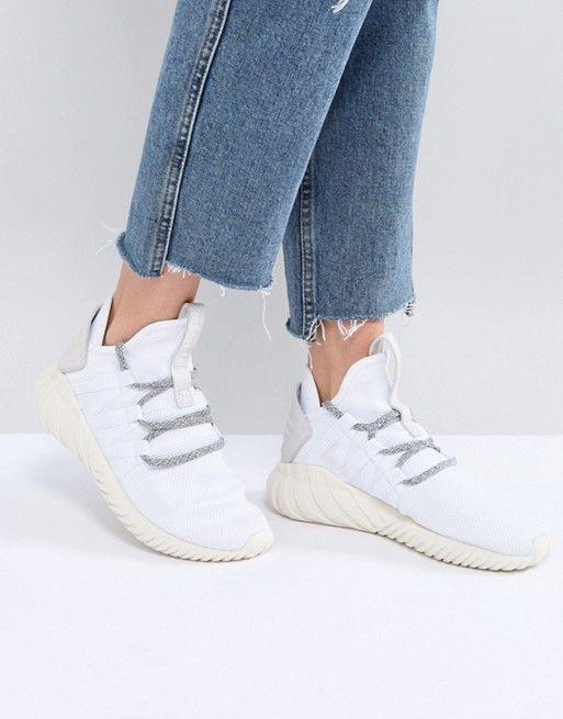 detailed look 0d29b 25187 adidas Originals Tubular Dawn Sneakers In White